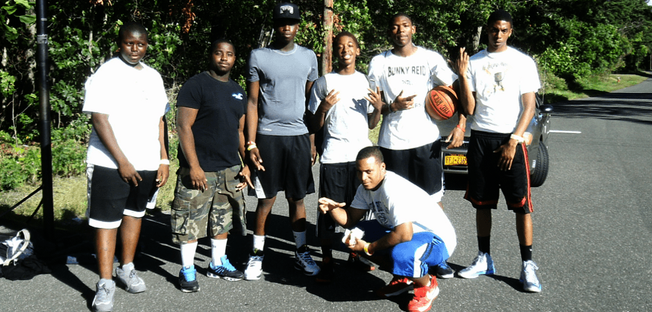 One of the  basketball team we sponsered